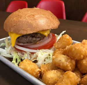 wesburger and tater tots - WesBurger n' More