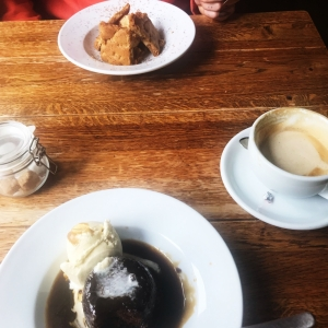 Sticky toffee pudding and cookie dough - The Fox Inn