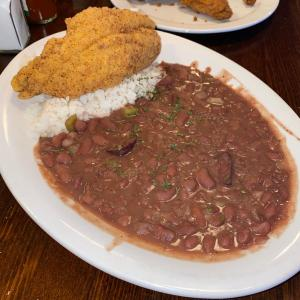 Red Beans and Rice with Fried Catfish