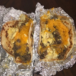 Steakhouse Beef Fajita, Egg, and Cheese Tacos - Chacho's