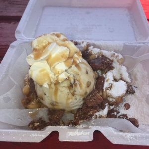 Texas Two Step Funnel Cake - Krave Cones