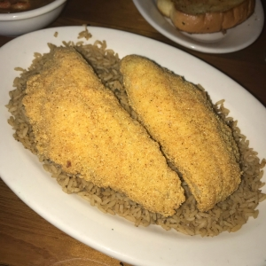Fried Catfish with Dirty Rice