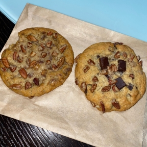 Toffee Pecan and Pecan Chocolate Chunk Cookies - Michael's Cookie Jar