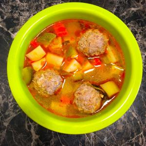 meatballs with vegetables. - Home/Made