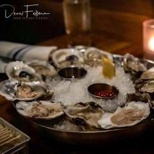 Oysters on the half shell! - Noble Fin Restaurant