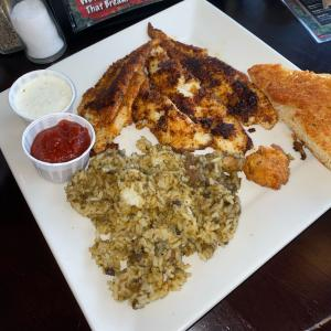 Blackened Catfish with Dirty Rice